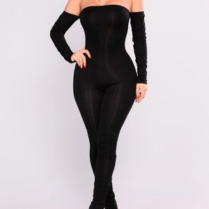 Black off the shoulders one piece